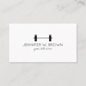 dumbbell fitness instructor personal trainer business card