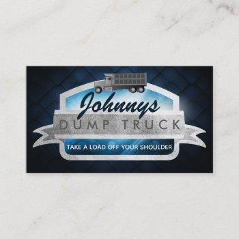 dump truck slogans business cards