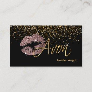 dusty rose lips 2 - avon business card