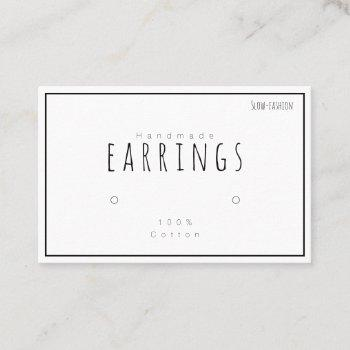 earring holders display card business cards