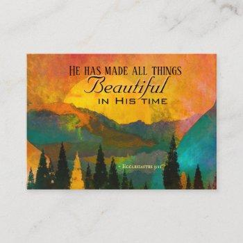 ecclesiastes 3:11 he has made all things beautiful business card