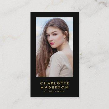 editable background color profile headshot photo business card