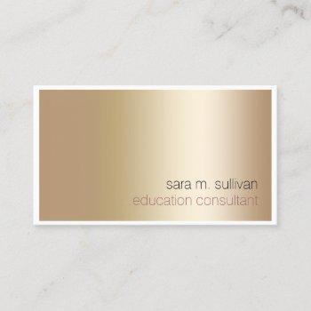 education consultant elegant bold gold minimalist business card