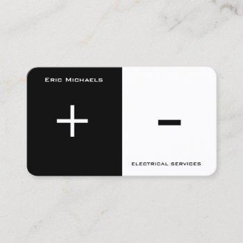 electrical art two side split business card