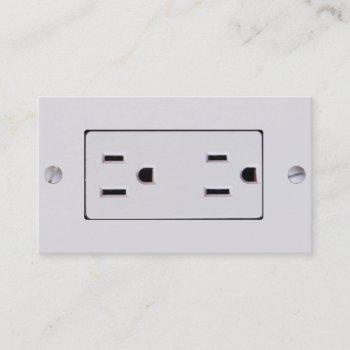 electrical outlet #2 business card