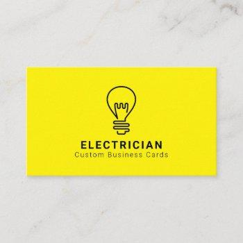 electrician light bulb business cards