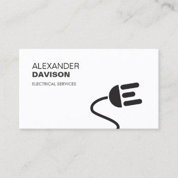 electrician logo modern business card ii