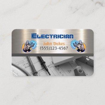 electrician metal handyman business card
