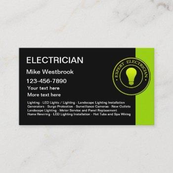 electrician new unique business cards