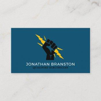 electricians fist, electrician business card