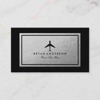elegant airplane business card