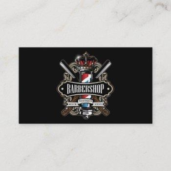elegant barbershop business card personalize