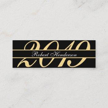 elegant black and gold classic insert graduation