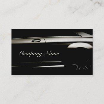 elegant black automotive business card