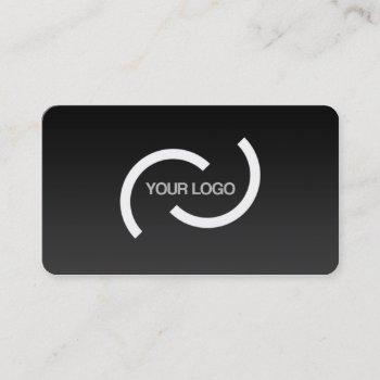 elegant black card. customize with your own logo. business card