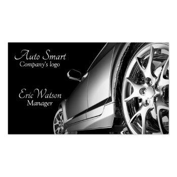 Small Elegant Black Professional Automobile Business Card Front View