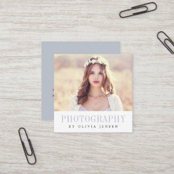 elegant border | photographer square business card