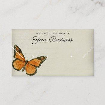 elegant butterfly horizontal jewelry display  business card