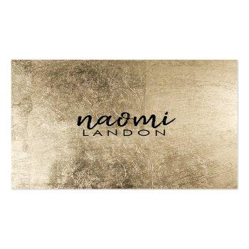 Small Elegant Chic Gold Modern Square Minimalist Black Square Business Card Front View