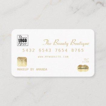 elegant chic white gold luxury credit card logo