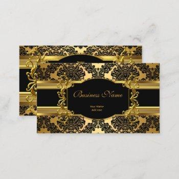 elegant classy gold damask floral profile business card