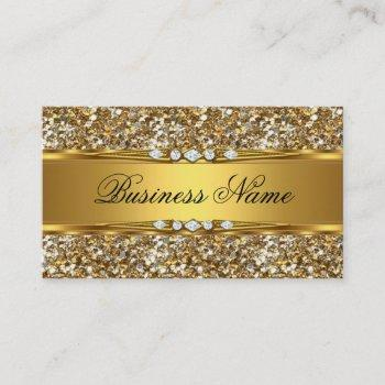 elegant classy gold glitter diamond look business card