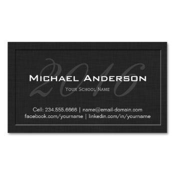elegant embossed senior class graduation name card