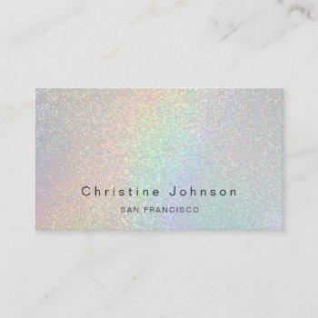 elegant faux rainbow glitter effect business card