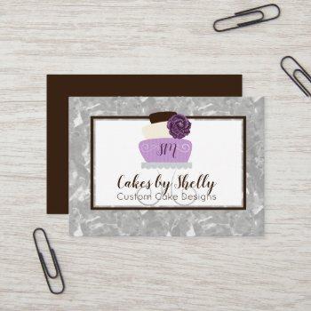 elegant floral cake decorating business card