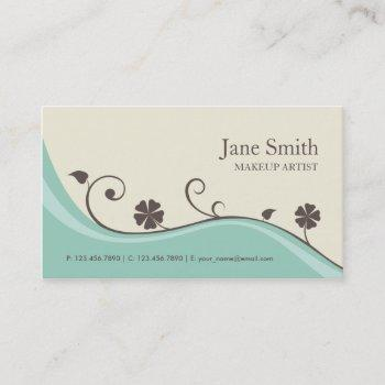 elegant flower floral retro stylish classy groupon business card