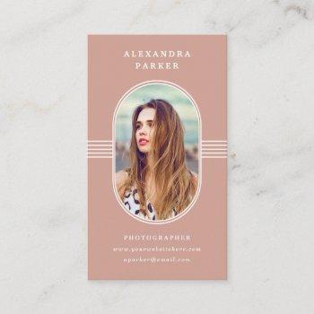 elegant frame | terracotta and white photo business card