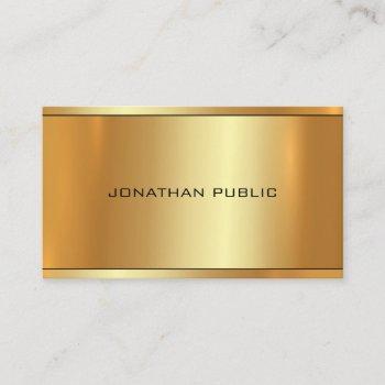 elegant glamour gold professional modern top plain business card