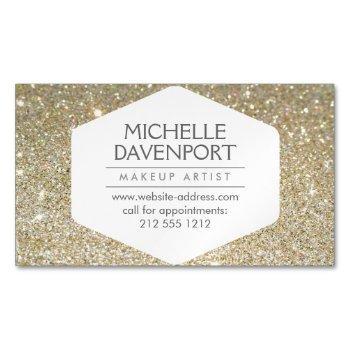 elegant gold glitter magnetic business card