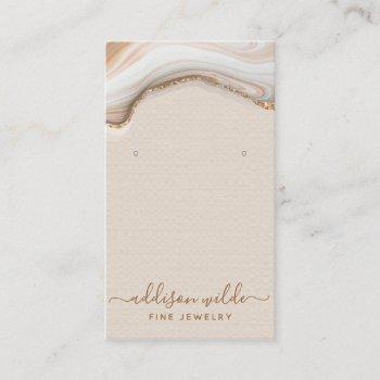 elegant gold glitter marble agate jewelry display business card