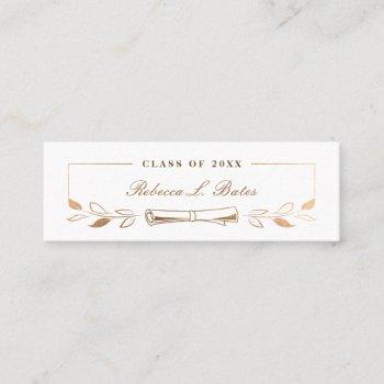 elegant gold graduate name card