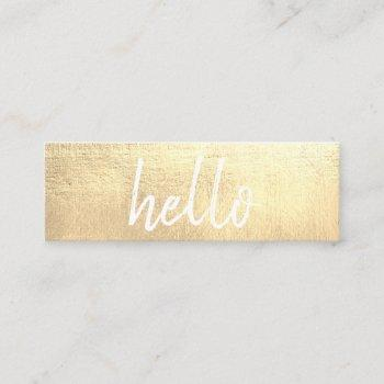 elegant gold hello eventplanner mini business card