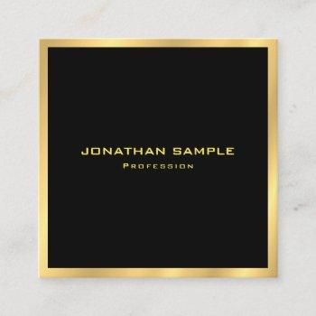 elegant gold simple plain modern professional square business card