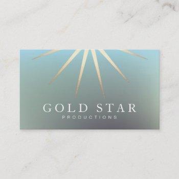 elegant gold star logo professional business card