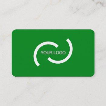 elegant green card. customize with your own logo. business card
