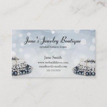 elegant jewelry business card design template