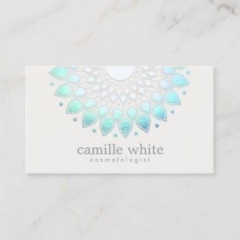 elegant lotus holistic spa and beauty business card