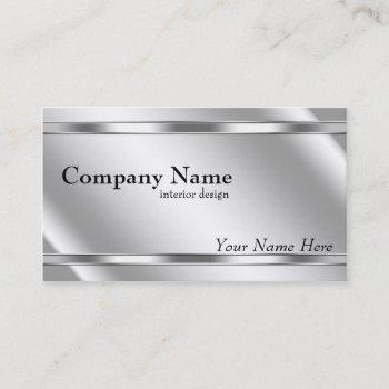 elegant metallic look shaded platinum business card