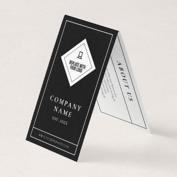 elegant minimalist black white your logo hang tag