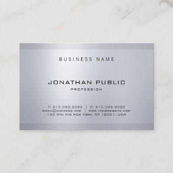 elegant minimalist glamour silver modern design business card