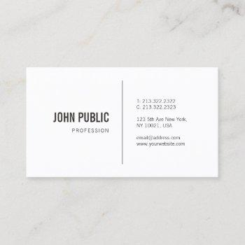 elegant minimalist modern professional plain chic business card