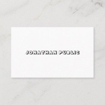 elegant minimalist modern simple design template business card