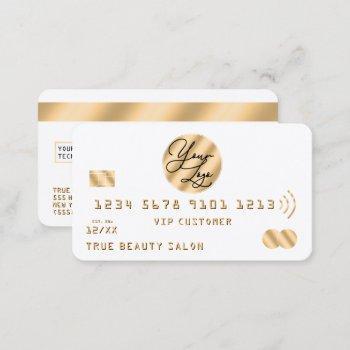 elegant modern gold black credit card logo