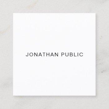 elegant modern professional smooth unique plain square business card