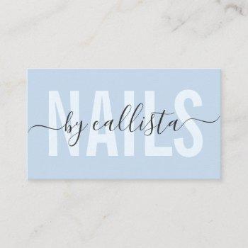 elegant modern simple typography nail artist busin business card