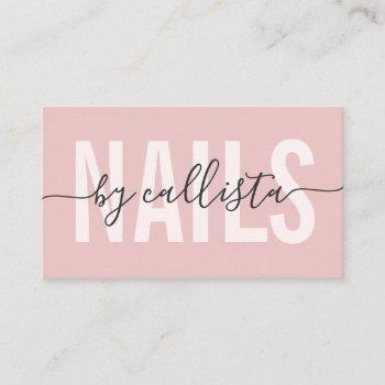 elegant modern simple typography nail artist business card